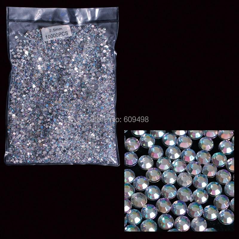 AB2.5   free shipping 10000pcs AB Acrylic Rhinestone Glitter 2.5mm Hot-fix Crystal Rhinestone Glasses 3d Nail Art Decoration realflame 10000 ab дровник