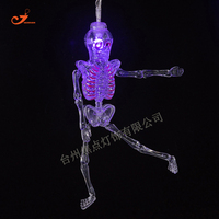 Skeleton Fairy Lights LED Hallowmas Decorative Halloween Decoration 10 White Lighting Battery Operated Skull String Lights