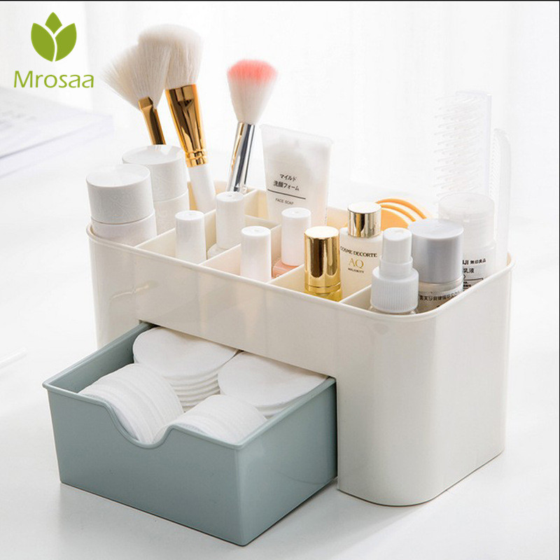 Storage-Box Swabs-Holder Makeup-Organizer Drawer-Jewelry-Case Cosmetics Desk Plastic