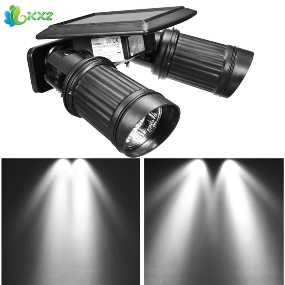 все цены на Outdoor Solar Power LED Spotlight PIR Motion Sensor Adjustable Waterproof Security Wall Lamp Spot Light for Garden Yard Driveway онлайн