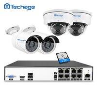 Techage H 265 8CH 48V POE NVR Recorder CCTV System Kit 4 0MP 2592 1520 Vandalproof