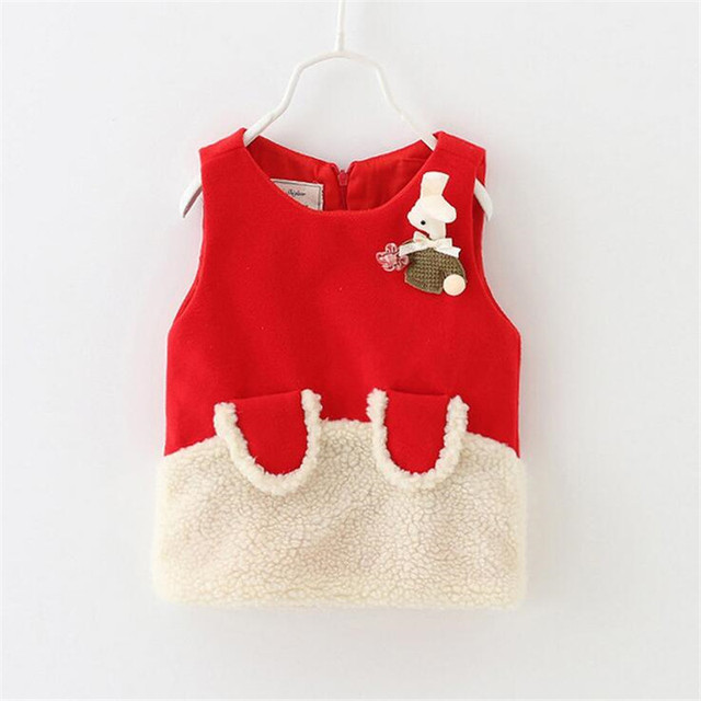 autumn new style baby girl vests lovely cartoon infant toddler thick waistcoat 2016 hot selling