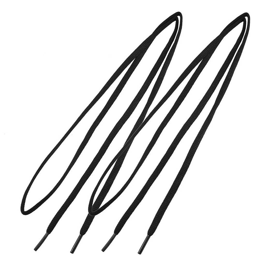 """1 пара унисекс пластиковый наконечник черный круглый шнур шнурки для обуви шнур 43,7"""""""