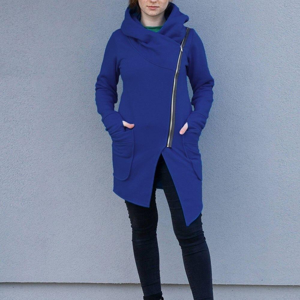 Feitong autumn coat Women Winter Zipper Blouse Hoodie Hooded Sweatshirt Coat Jacket Outwear Plus Size 5XL