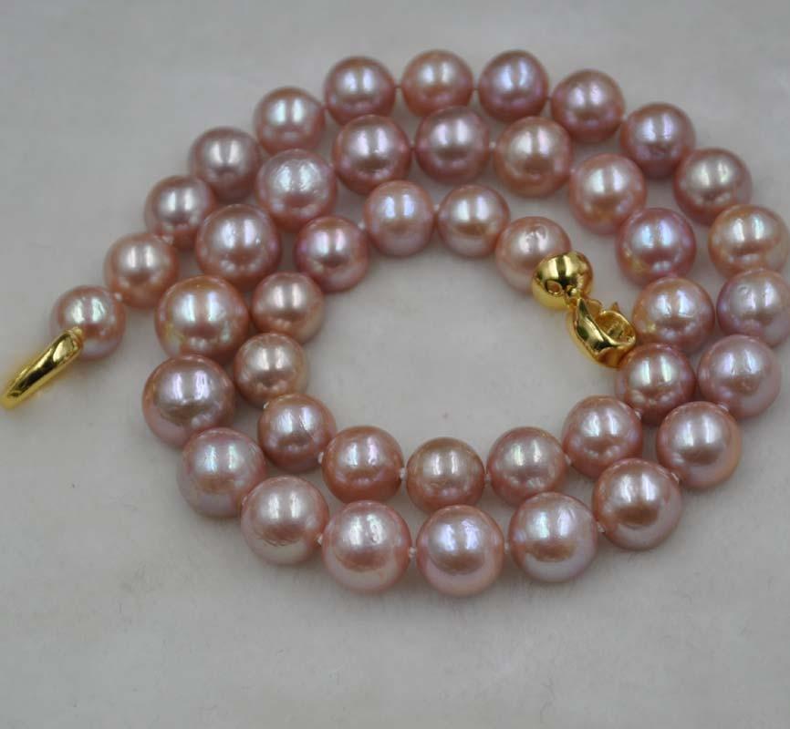 9 11 ミリメートルラウンド自然な紫色の畝間かすみ養殖真珠ネックレス itemQ30148  グループ上の ジュエリー & アクセサリー からの チョーカーネックレス の中 2