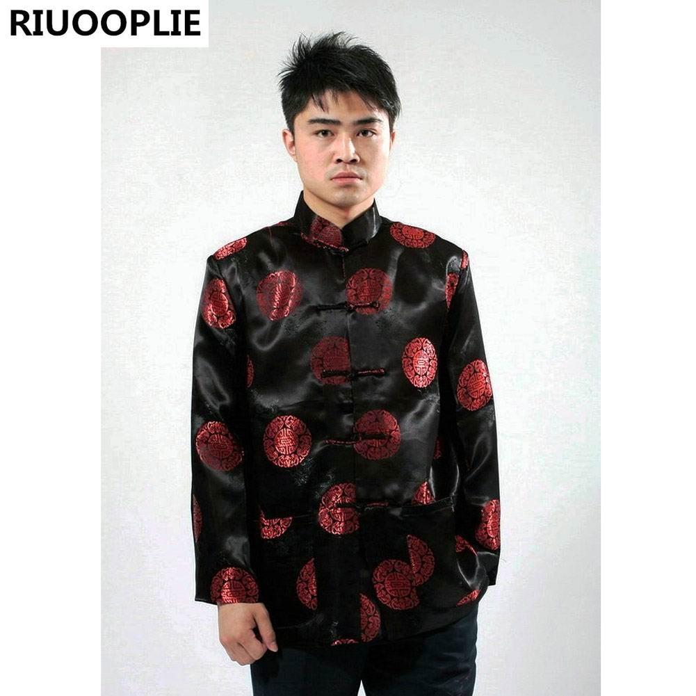 RIUOOPLIE Pakaian Cina untuk Lelaki Top Tang Suit Tahun Baru Hadiah - Pakaian kebangsaan - Foto 6