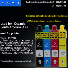 4 warna 1 set T25 TX125 printer ink cartridge T1351 T1332 T1333 T1334 133 tinta cartridge(China)