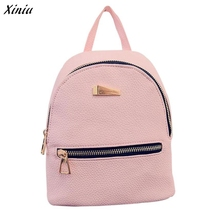 Xiniu Backpack Women Zipper Pocket Solid Color Backpacks For Teenage Girls Rucksack Women Mochilas Femininas #2811