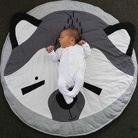 Karikatür Hayvanlar Bebek Oyun Mat Tilki Aslan Desen Yenidoğan Bebek Uyku Battaniye Oyunu Bulmaca Halı Çocuk Odası Alan Kilim Tırmanma