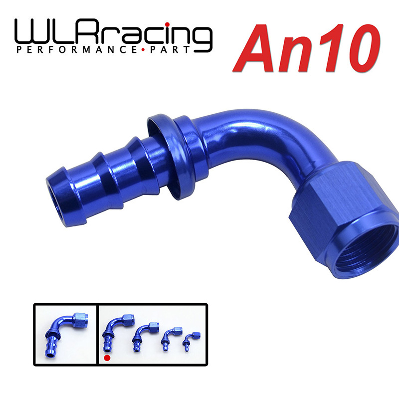 Official Website Wlr Racing An10 10an An-10 90 Degree Blue Push On Lock Socketless Hose End Fitting Adapter Wlr-sl2090-10-011 Sophisticated Technologies Engine Auto Replacement Parts