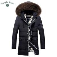 Men's Duck Down Jacket Plus Size Winter White Duck Down Jackets XXL XXXL Zipper Coat Natural fur collar Warm Clothing Overcoat