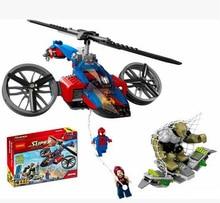 Decool 7106 DC Super Hero Spider Man/Green Goblin Figure Bricks Building Block Minifigue Toys Kid Gift Compatible Legoe