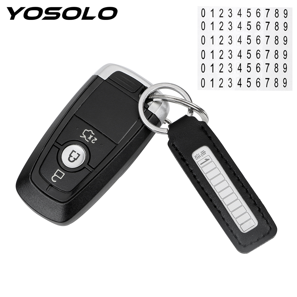 YOSOLO Key-Ring Phone-Number-Plate Vehicle Car-Styling Auto Anti-Lost Gifts