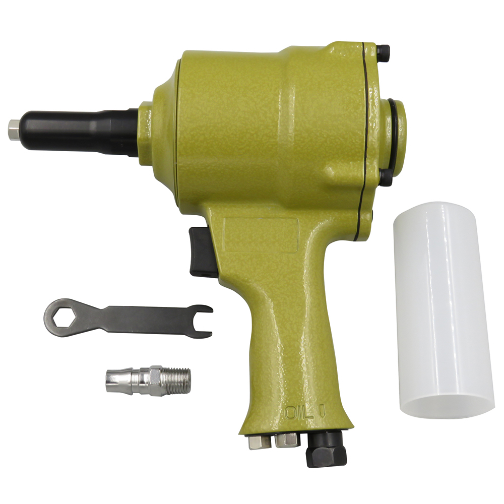 Meterk Pro Air Riveter Pneumatic Pistol Type Pop Rivet Gun Air Power Operated Riveter Rivet Instrument 2.4-4.8mm Pneumatic Nail