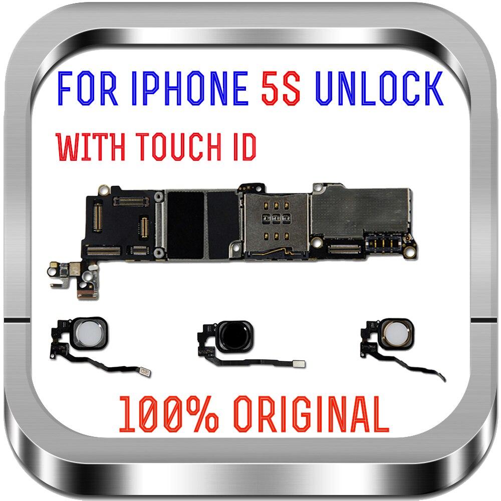 16 ГБ 32 ГБ 64 ГБ материнская плата с/без touch ID для iphone 5S разблокированная материнская плата IOS системная логическая плата с чипами Антенны для мобильных телефонов      АлиЭкспресс
