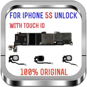 Image 2 - 16GB 32GB 64GB carte mère avec/sans identification tactile pour iphone 5S débloqué carte mère système carte mère avec puces