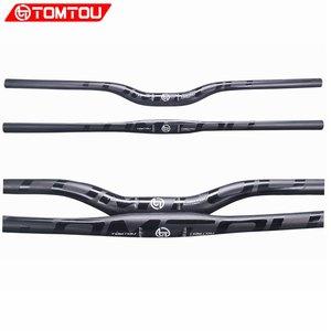 TOMTOU Mountain Bikes Handlebar UD Matte Carbon Fibre bicycle MTB Horizontal Handlebar Parts Black Glossy Logo 31.8mm - TM1T59(China)