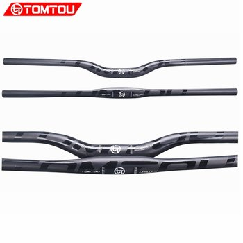 TOMTOU руль для горного велосипеда UD матовый углеродное волокно MTB горизонтальный руль части черный глянцевый логотип 31,8 мм-TM1T59