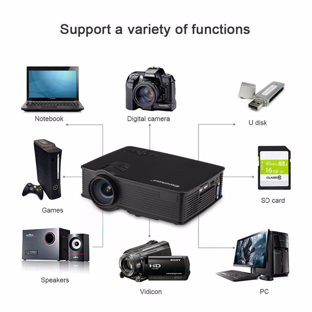 Salange P36 Мини проектор 1500 люмен Домашний кинотеатр видео проектор светодиодный проектор с Android 9,0 WiFi AV/HDMI/USB - 2