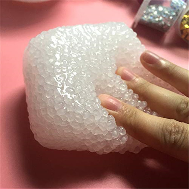 60ML Lizun Rice Mud Foam Fluffy Slime Dough DIY Slime Crystal Anti Stress Sludge Toy Plasticine Modeling Clay for Kids Gift