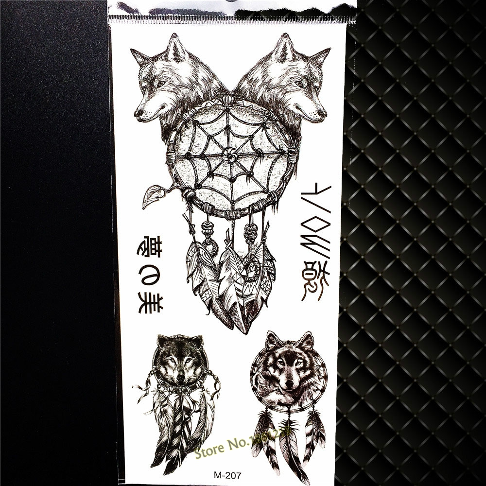 1PC Gold Hair Punk Girl Tattoo Sticker For Sexy Women, Men Body Arm Sleeve Tattoo Paste GZW-019, Succuba Magic Fake Tattoo Totem