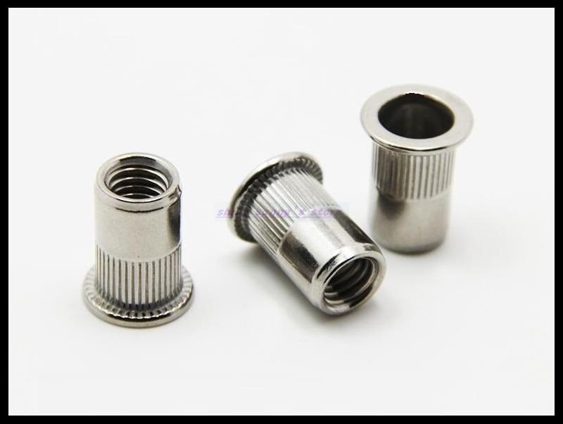 цена на Metric Thread M3 M4 M5 M6 M8 M10 M12 304 Stainless Steel Insert Rivet Nut Rivnut Brand New