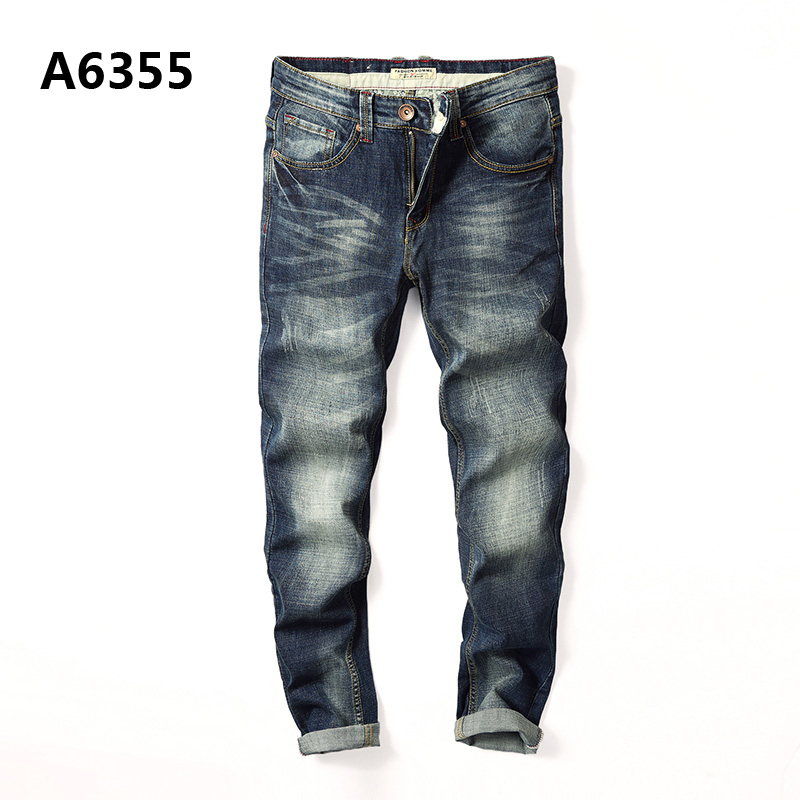 Preppy Style Denim Overalls Men High Quality Cotton Mid Stripe Regular Fit Jeans Masculino High Grade Plus Size Jeans Men A6355 men s cowboy jeans fashion blue jeans pant men plus sizes regular slim fit denim jean pants male high quality brand jeans