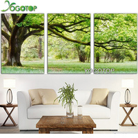 evergreen tree triptych Pattern Diamond Embroidery DIY Needlework Diamond Painting Cross Stitch 5D Rhinestones Paintings VS351