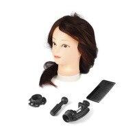 26 Inch Dark Brown Training Mannequin Head Hairdressers Dummy Hairstyles Long Hair Dolls Mannequin Head For