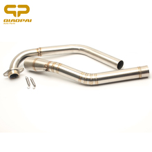 Motorcycle Muffler Escape mid tube Steel Connect Link Pipe Spring FOR Yamaha R15 2008 2009 2010 -2015 2016 Motorbike Accessories