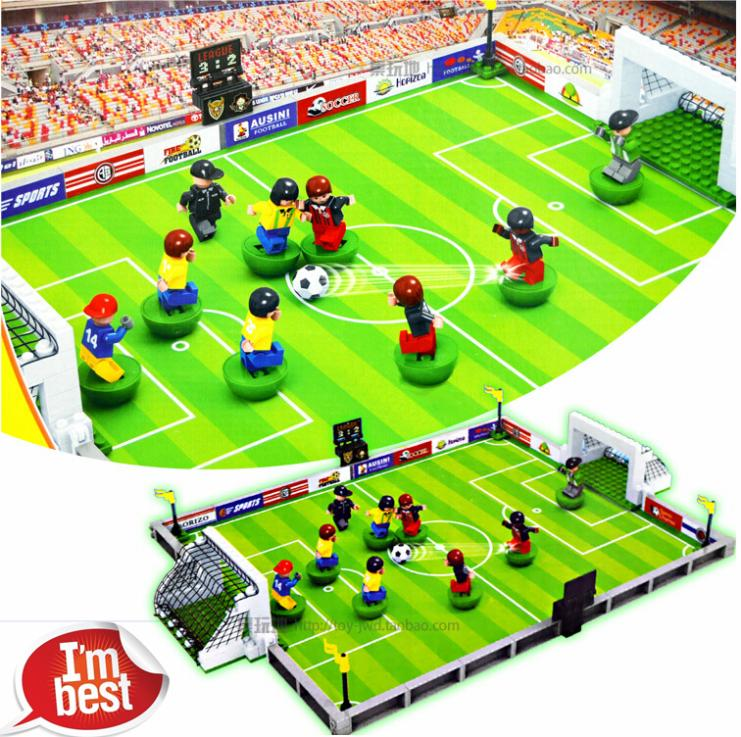 AUSINI 251pcs 2014 Brazil WORLD CUP Football Soccer Stadium minifig 3D DIY Action Figures Building Blocks Bricks Gifts Toys brazil football fans caxirola cheer horn for 2014 world cup