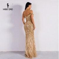 Missord 2018 Sexy bra  party dress sequin maxi dress FT4912 2