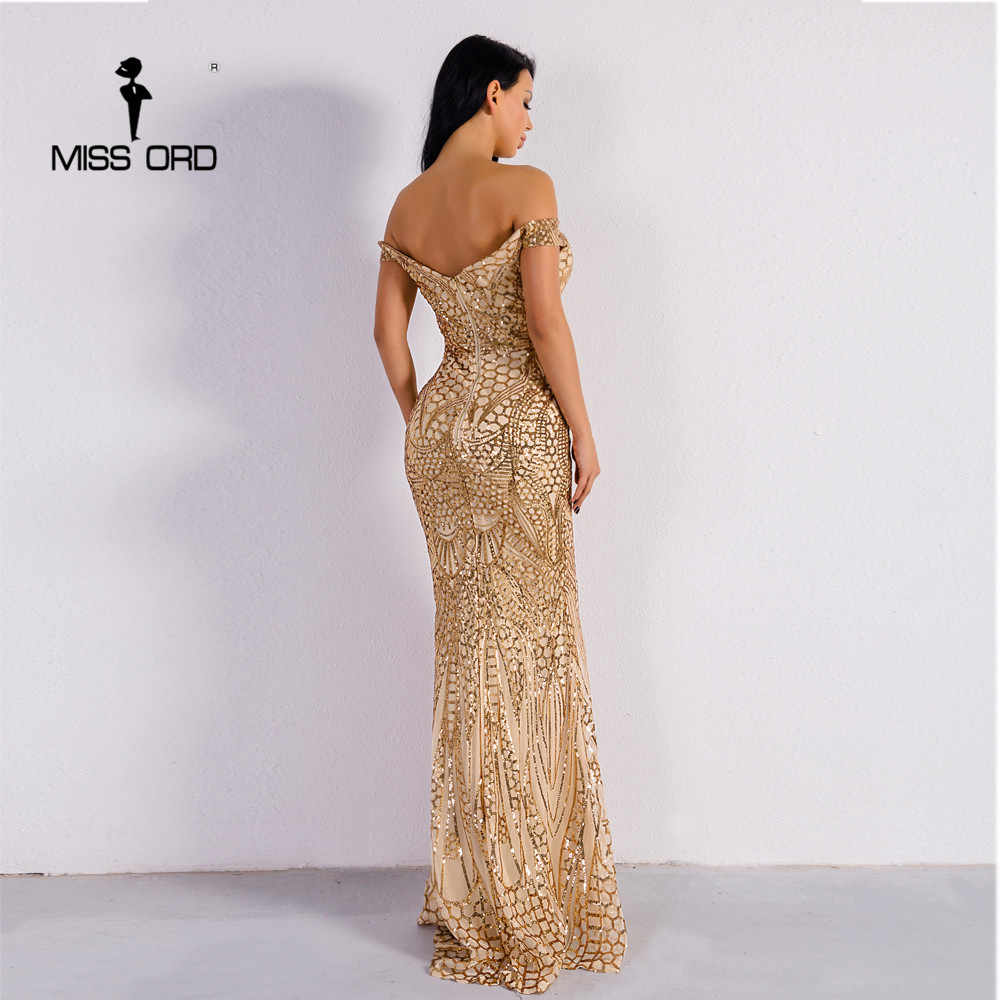 Missord 2020 여름 섹시한 브래지어 파티 드레스 스팽글 맥시 드레스 어깨 Bodycon 우아한 웨딩 여성 드레스 FT4912