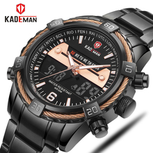 KADEMAN Luxury Brand Watches Men Sports Watches Waterproof LED Digital Quartz Men Military Wrist Watch Clock Male Relogio Mascul