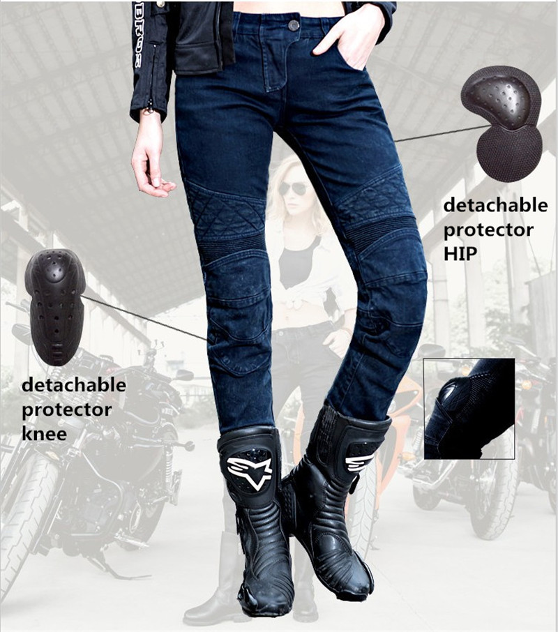Free shipping 2017 Uglybros Women Ubs-09 Jeans Motorcycle Protector Pants Locomotive Ride Pants Racing Pants size: 25 26 27 free shipping 2017 uglybros straight casual jeans motorcycle protector pants men s moto pants racing pants with detachable prote