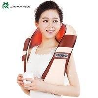 JinKaiRui 4D Infrared Heating 12 Massage Balls U Shape Electric Shiatsu Kneading Back Neck Shoulder Body
