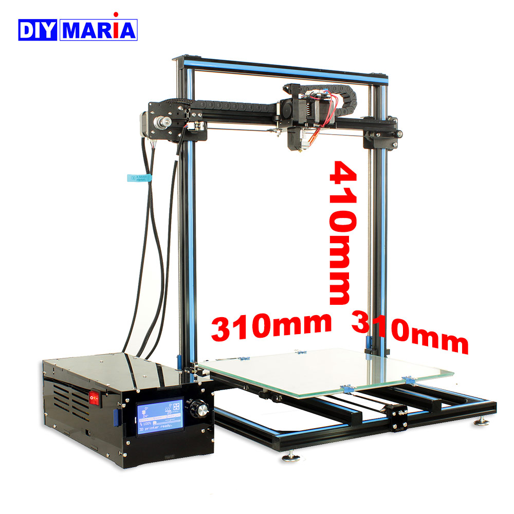 PRINTER SIZE 310*310*410mm Metal structure 3D printer Reprap Prusa i3 12864 LCD 3D-PRINTER SD card 4GB SHIP from RU Moscow black anet a2 reprap prusa i3 3d printer aluminium metal frame lcd display pla 8g sd card as gift fast shipment from moscow