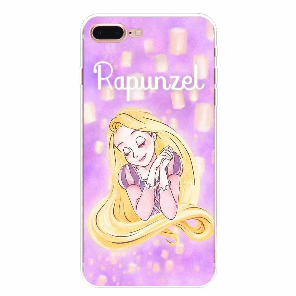 For Sony Xperia Z Z1 Z2 Z3 Z5 compact M2 M4 M5 E3 T3 XA Aqua LG G4 G5 G3 G2 Mini Soft Cases Covers cute cartoon Tangled Princess