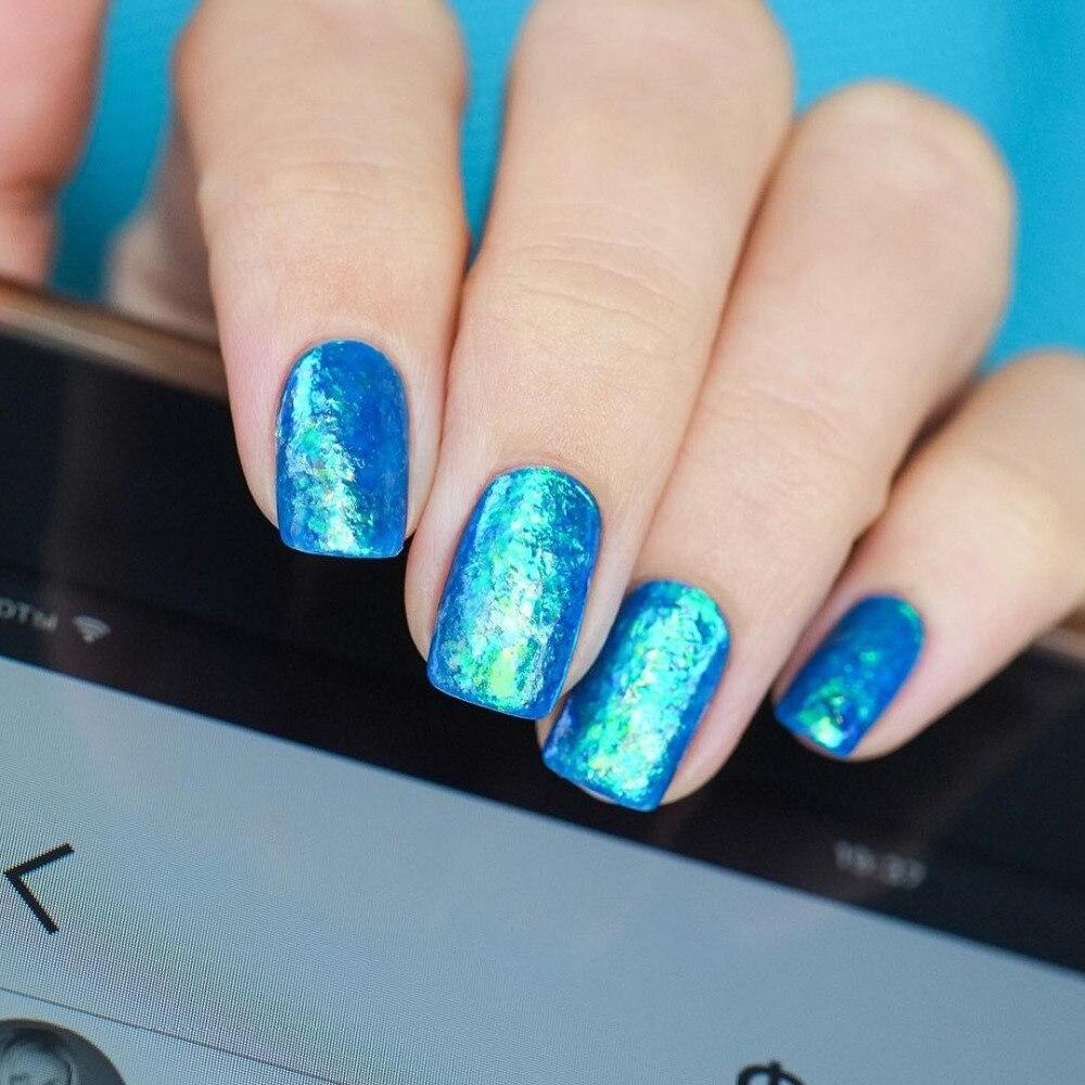 NACIDO PRETTY Camaleón irregular Brillo para uñas 5 colores - Arte de uñas - foto 4