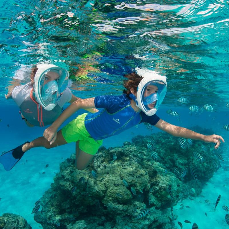 Underwater Swimming Snorkel Anti Fog Full Face Snorkeling