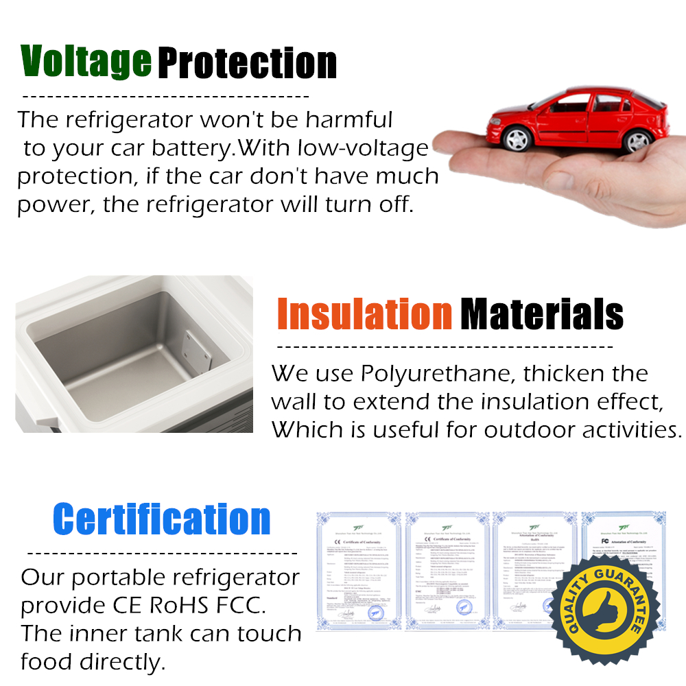 14953303cd6 SOAC Car Refrigerator 12L Portable Vehicle Fridge Electric Cool Box Cooling  And Warming Dual purpose Kitchen Household gray 12V-in Refrigerators from  ...