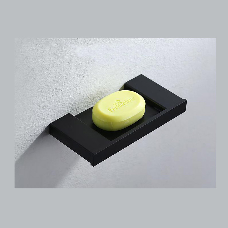 ᗑ】235mm Width Black Soap Dish Soap Holder Bathroom Shelf Wall ...