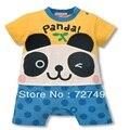 Panda do bebê rompers babywear ternos do corpo de manga Curta macacão infantil romper do bebê Recém-nascido menino bebe roupas roupa traje