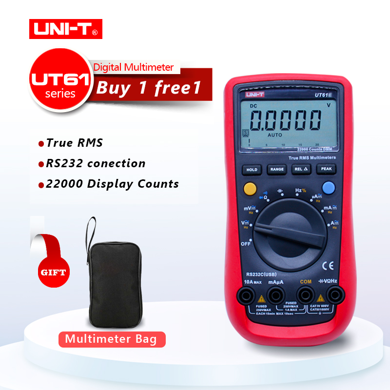 UNI-T UT61A UT61B UT61C UT61E Digital multimeter true RMS RS232 interface MULTIMETER Auto range with LCD backlight display uni t ut90c ut 90c low price best multimeter digital with lcd display