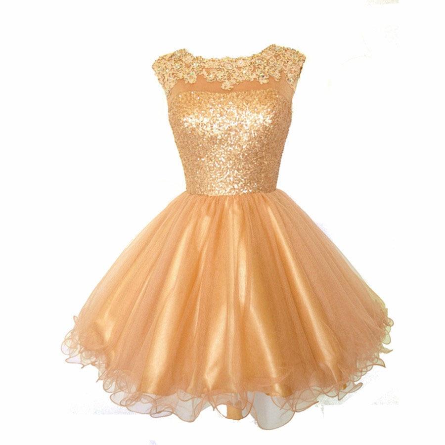 Popular Gold Dresses for Juniors-Buy Cheap Gold Dresses for ...