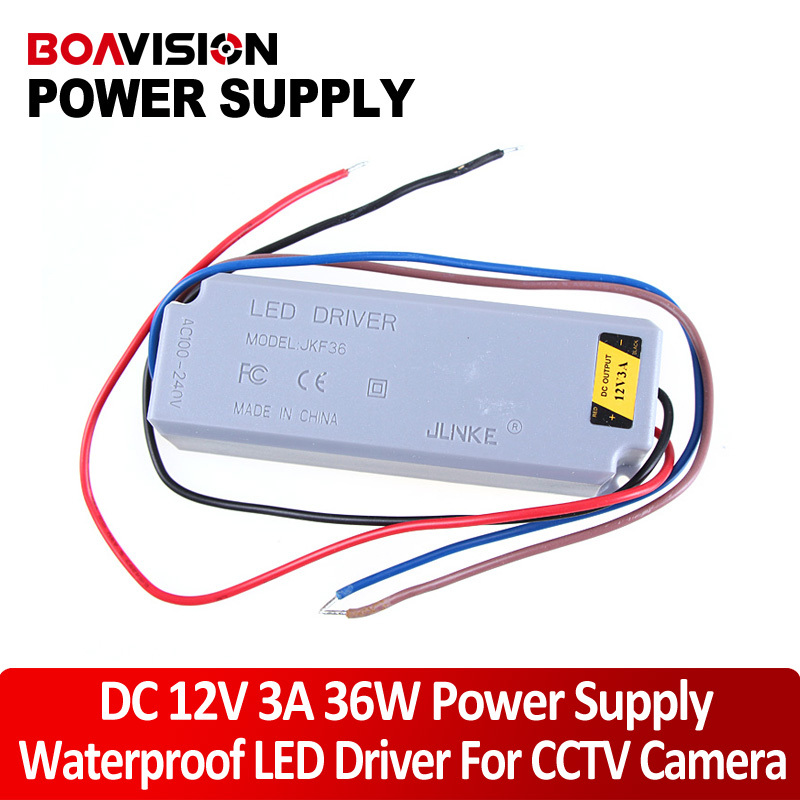 CCTV Power Adapter 12V 3A 36W Waterproof Outdoor Power Supply for LED Driver CCTV power adapter