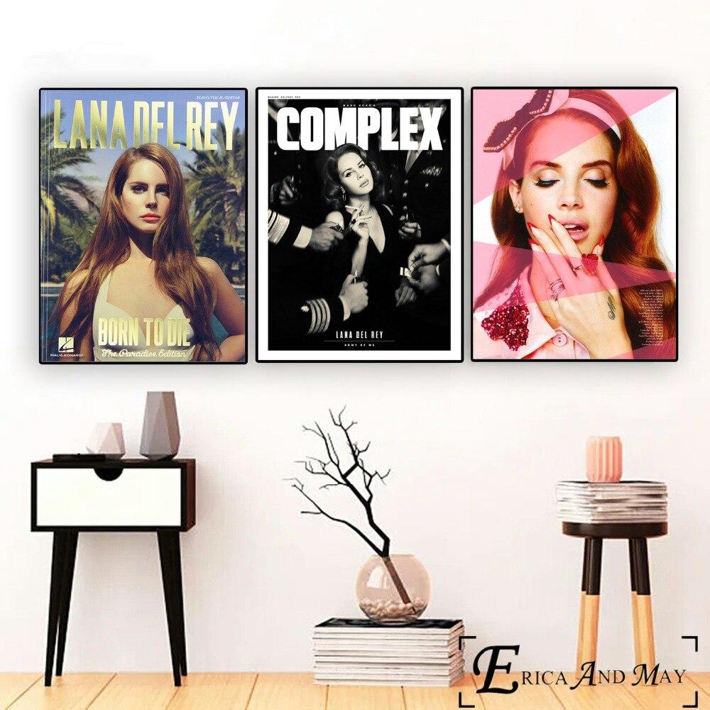 Cuadro sobre lienzo para pared de arte Pop de Lana Del Rey, póster para decoración Del hogar, carteles e impresiones, imágenes decorativas sin marco