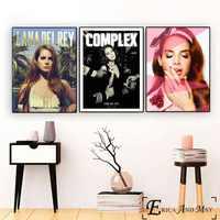 Lana Del Rey pared Pop Art Lona de arte pintura cartel para la decoración de los carteles y las huellas sin marco de fotos