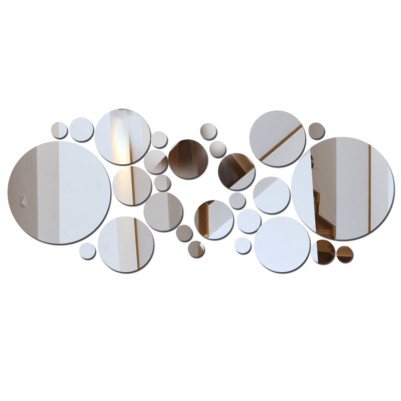 new real sunacrylic large pattern mirror wall sticker ...