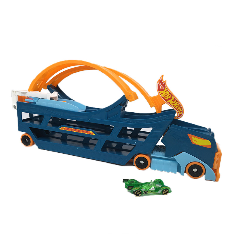 Hotwheels toy cars big scale model Heavy haul trucks hot wheels track Storage oyuncak araba car kids toys Christmas gift electric track racing car 1 43 620cm rail road roller double rc toy for boys gift kids toy cars educational toys for children